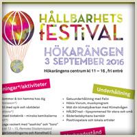 Hållbarhetsfestival i Hökarängen den 3 september