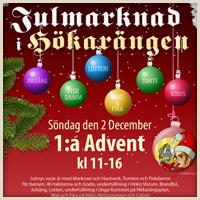 Dags för Julmarknaden 2018 den 2:a December …