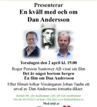 En kväll med och om Dan Andersson